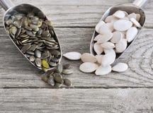 Слезли семена тыквы, который Стоковое Фото