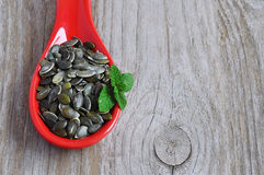 слезли семена тыквы Стоковая Фотография