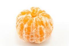 Слезли tangerine на белизне Стоковые Изображения