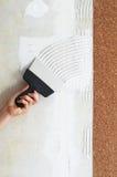 Сделайте мазок для ручки cork обои Стоковая Фотография
