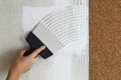 Сделайте мазок для ручки cork обои Стоковые Изображения
