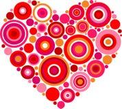 Сделанное по образцу красное сердце Стоковое Фото