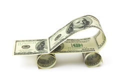 сделанные доллары автомобиля Стоковое фото RF