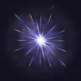 Слепимость радуги звезды мерцания космическая иллюстрация штока
