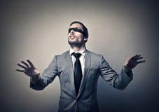 Слепой бизнесмен стоковое изображение rf