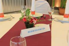 Сдержанно плита для VIP's Стоковое Изображение RF