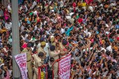 Сдерживание толпы стоковое фото rf