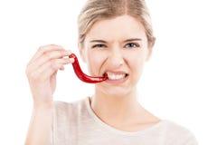 Сдерживать перец красных чилей Стоковая Фотография RF