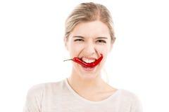 Сдерживать перец красных чилей Стоковая Фотография