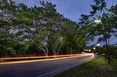 След автомобиля ночи Стоковая Фотография RF