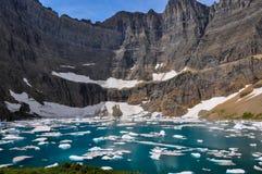 След айсберга в национальном парке ледника, Монтане, США Стоковое фото RF