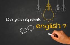 сделайте английскую язык поговорите вас Стоковое фото RF