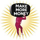 Сделайте больше человека денег стоковые изображения rf