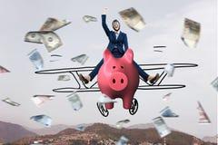 Сделайте вашу работу сбережений для вас Мультимедиа стоковое изображение rf