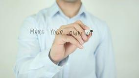 Сделайте вашу собственную мечту в реальность, писать на прозрачном экране сток-видео