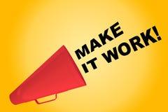 Сделайте его работать! концепция Стоковые Фото