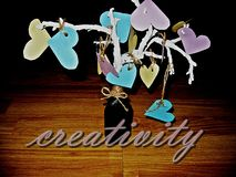 Сделайте его себя концепция предложенная handmade украшением Стоковые Фотографии RF