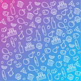 Сделайте по образцу значки выровняйтесь, еда плана и продукты внутри Стоковая Фотография
