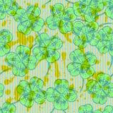 Сделайте эскиз к клеверу, картине вектора безшовной, symbo дня St. Patrick иллюстрация штока