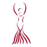 Сделанная эскиз к девушка танцев Стоковые Изображения RF