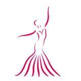 Сделанная эскиз к девушка танцев Стоковая Фотография RF