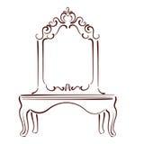 Сделанная эскиз к иллюстрация зеркала Стоковые Изображения RF