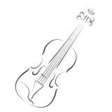 Сделанная эскиз к скрипка Стоковое Изображение RF