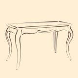 Сделанная эскиз к таблица Стоковое Изображение