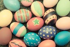 сделанное изображение пасхального яйца Винтажный тон цвета Стоковая Фотография RF