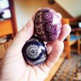 сделанное изображение пасхального яйца Художнический взгляд в винтажных ярких цветах Стоковые Изображения