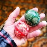 сделанное изображение пасхального яйца Художнический взгляд в винтажных ярких цветах Стоковое фото RF