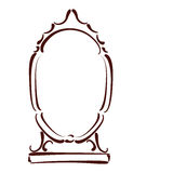 Сделанное эскиз к зеркало Стоковые Фото