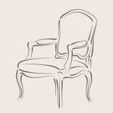 Сделанное эскиз к кресло Стоковые Изображения RF
