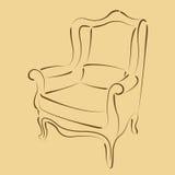Сделанное эскиз к кресло Стоковое Изображение