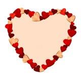 сделанные сердца сердца рамки Стоковое Изображение RF