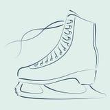 Сделанные эскиз к коньки льда Стоковая Фотография RF