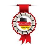 Сделанный в Германии, наградное качество - испанский язык Стоковая Фотография RF