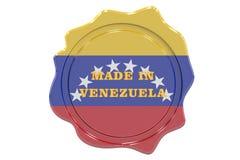 Сделанный в уплотнении Венесуэлы, штемпель Стоковое Изображение RF