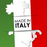 Сделанный в флаге Италии Стоковое Изображение