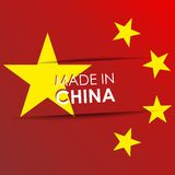 Сделанный в флаге Китая Стоковое Изображение