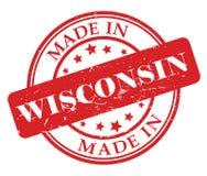 Сделанный в штемпеле Висконсина Стоковые Изображения