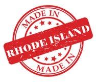 Сделанный в штемпеле Род-Айленда Стоковая Фотография