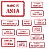 Сделанный в штемпелях Азии иллюстрация вектора