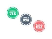 Сделанный в grunge продукта США знаке уплотнения значка стиля битника американского ретро винтажном Стоковые Фото