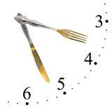 сделанный нож вилки часов Стоковые Изображения RF