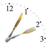 сделанный нож вилки часов Стоковые Фото
