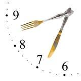 сделанный нож вилки часов Стоковое Фото