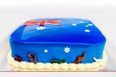 Сделанный домом торт дня Австралии Стоковая Фотография RF