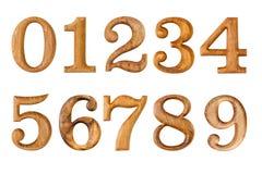0-9 Сделанный от древесины Стоковые Фотографии RF