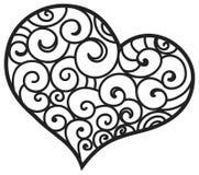 Сделанный по образцу орнамент сердца флористический Стоковая Фотография RF